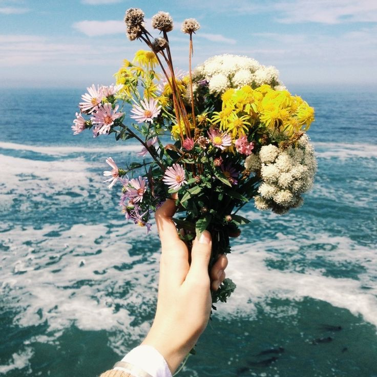 Flowers and the Ocean are the Prettiest! // #pretty