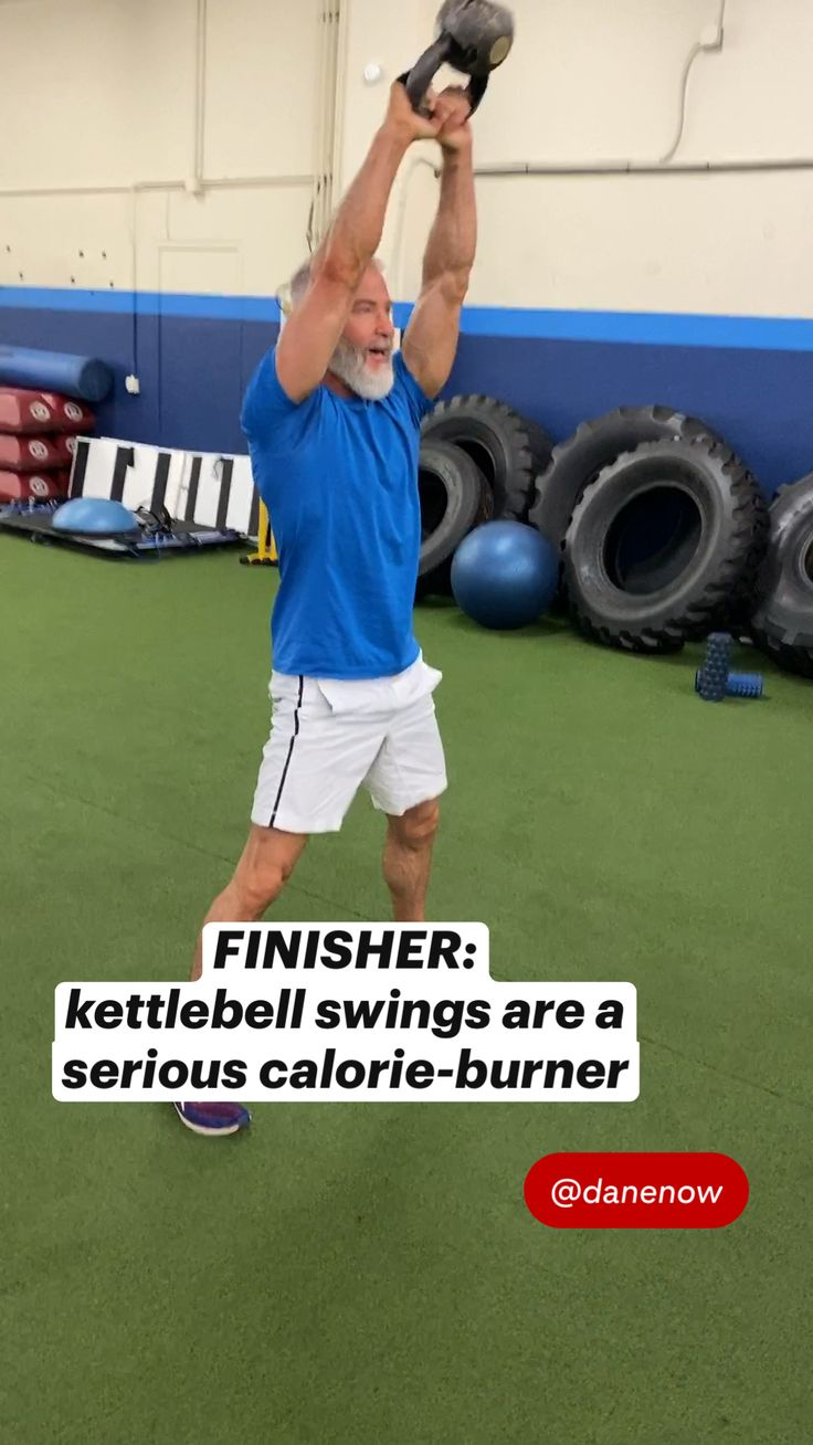 Workout Routine For Men, Gym Workout Tips, At Home Workout Plan, At Home Workouts, Kettlebell Training, Kettlebell Swings, Dumbbell Workout, Over 50 Fitness, Muscle Building Workouts