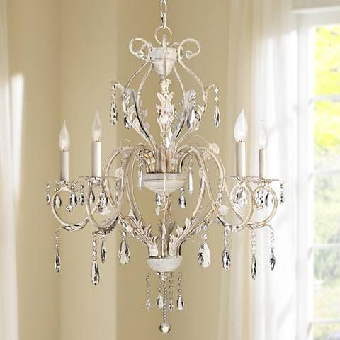 108 best chandeliers lighting images on pinterest chandeliers kathy ireland devon 5 light antique white crystal chandelier 76475 lamps plus mozeypictures Gallery