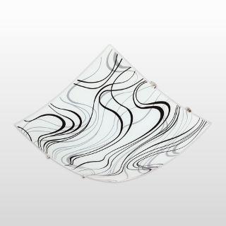 Plafon Vidro Quad 30cm 2xe27 Abstrato Ac Cristal Bivolt Ref 82791004