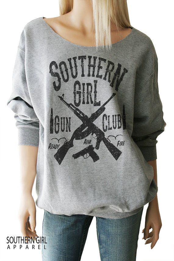 Southern Girl Gun Club Sweatshirt. Gun by SouthernGirlApparel