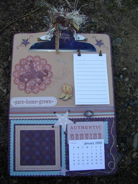 Western altered clipboard by karen525 - Cards and Paper Crafts at Splitcoaststampers