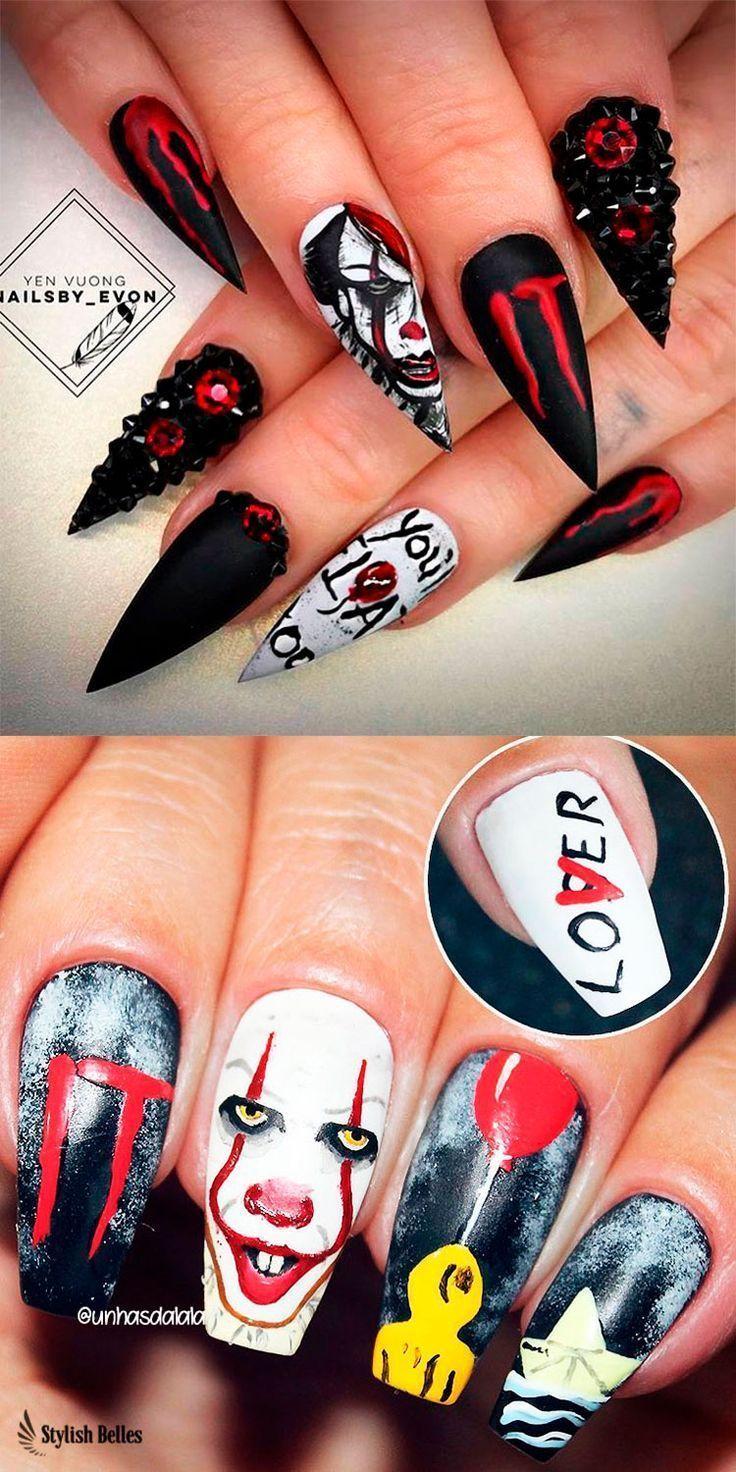 Creepy Coffin-shaped Halloween Nail Ideas! #halloween # ...