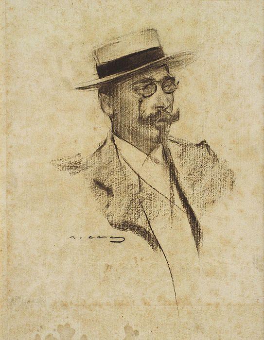 Portrait Of Henri Francois Roujon Ramon Casas