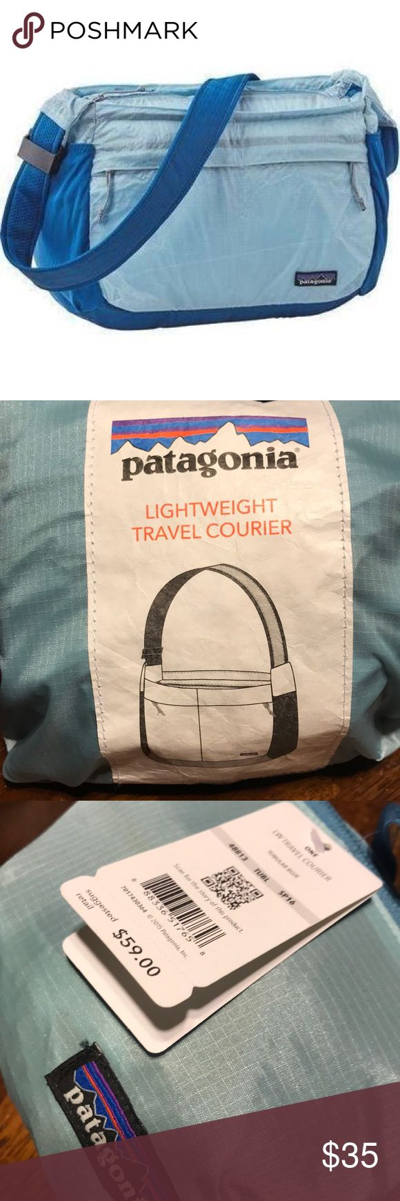 Patagonia Lightweight 15L Travel Courier Used once but tags are still attached. Weather resistant. Patagonia Bags