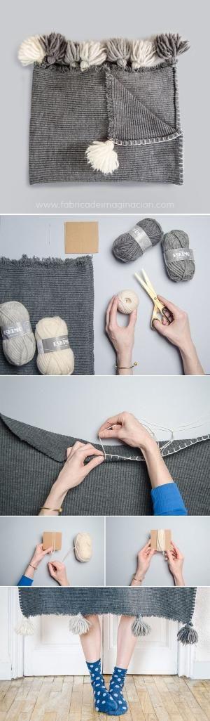 DIY Mantas con borlas · Fábrica de Imaginación DIY by candace