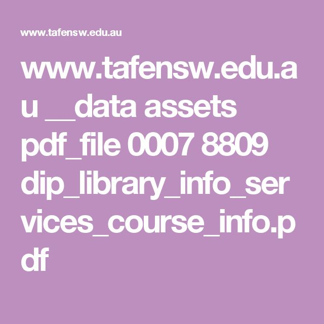 www.tafensw.edu.au __data assets pdf_file 0007 8809 dip_library_info_services_course_info.pdf