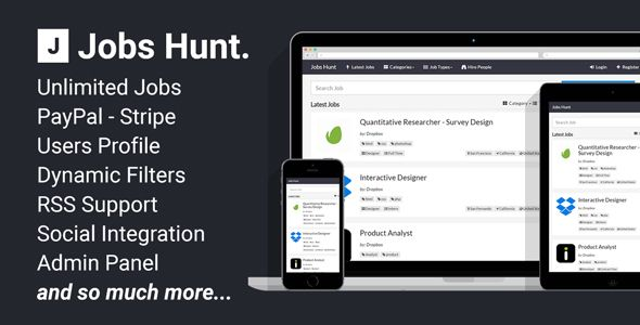 Jobs Hunt - The Job Portal - CodeCanyon Item for Sale
