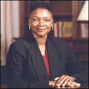 Valerie Amos / Baroness Amos  The Right Honourable Baroness Amos   Politician    The Baroness Amos was born on March 13, 1954 in Georgetown, Guyana. She is a British Labour Party politician and life peer, formerly serving as Leader of the House of Lords and Lord President of the Council. When she was appointed Secretary of State for International Development on 12 May 2003, following the resignation of Clare Short, she became the first black woman to sit in the Cabinet of the U.K.