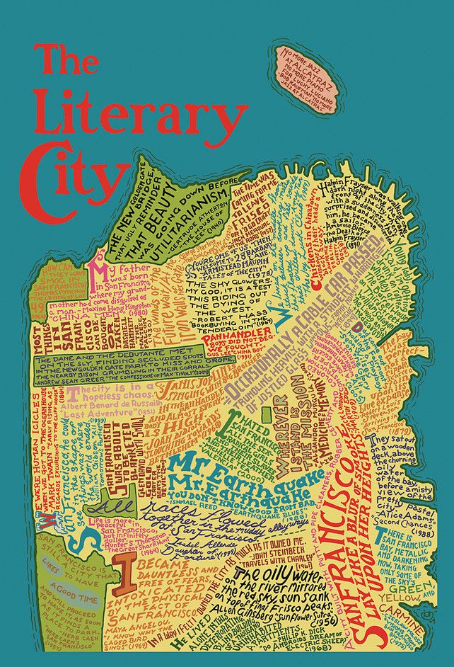 Love this map of San Francisco made up of literary quotes. Brilliant.
