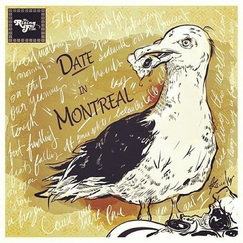New #ARTWORK #single #cover #date in#MTL #montreal #therisingfew new #music coming #soon  #illustration by #KarimTerouz