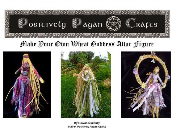 Learn How to Make Your Own Brigid Corn Dolly or Moon Goddess Altar Figures. PDF Tutorial Downloadable e-manual