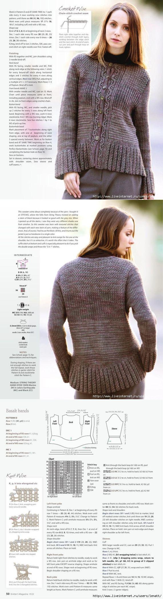 свитер ирландские узоры спицами схемы