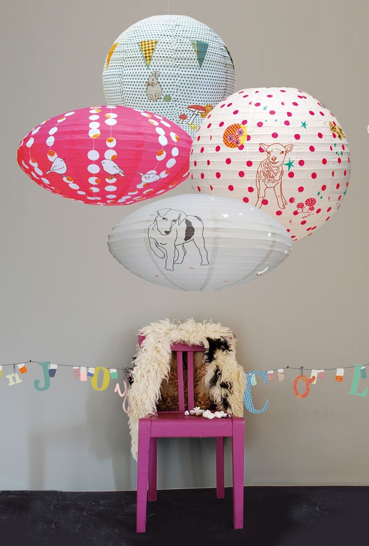 after a rainy sunday we had here i thought these cheery paper lanterns from french brand mimilou would be a good start for the week casa kids good