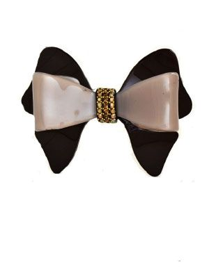 cacao bow Davidian barrette Hand made in France http://www.shambalaparadise.com/product/mc-davidian-barrette-bow-cacao/