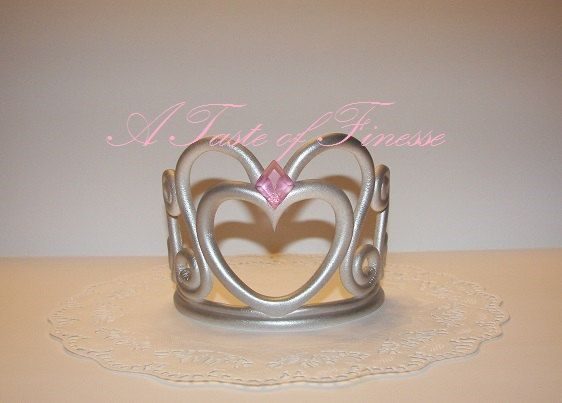 crown cake topper fondant princess tiara crown 1 in by 3196