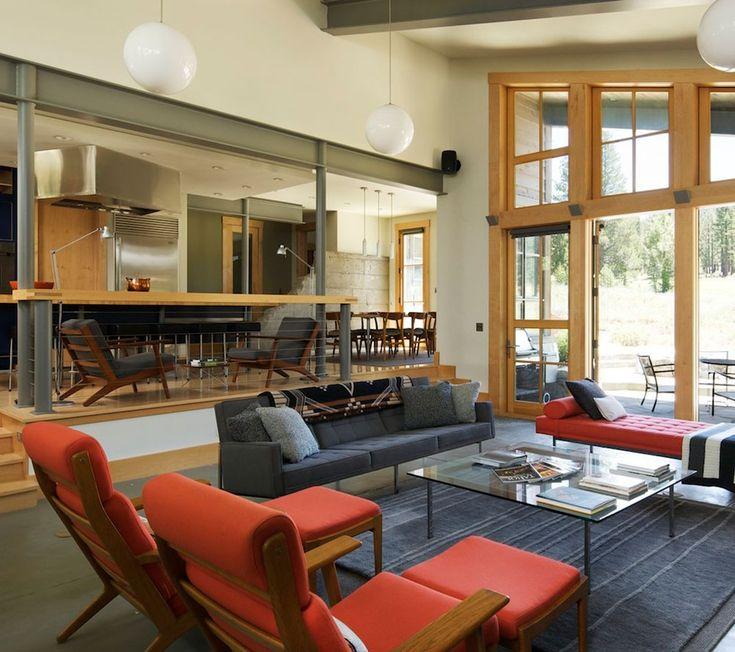 62 best sunken living rooms images on pinterest sunken for Sunken living room designs