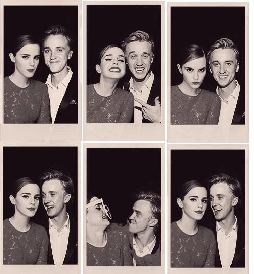 Tom and Emma are canon, but I still don't get were Dramione comes from.
