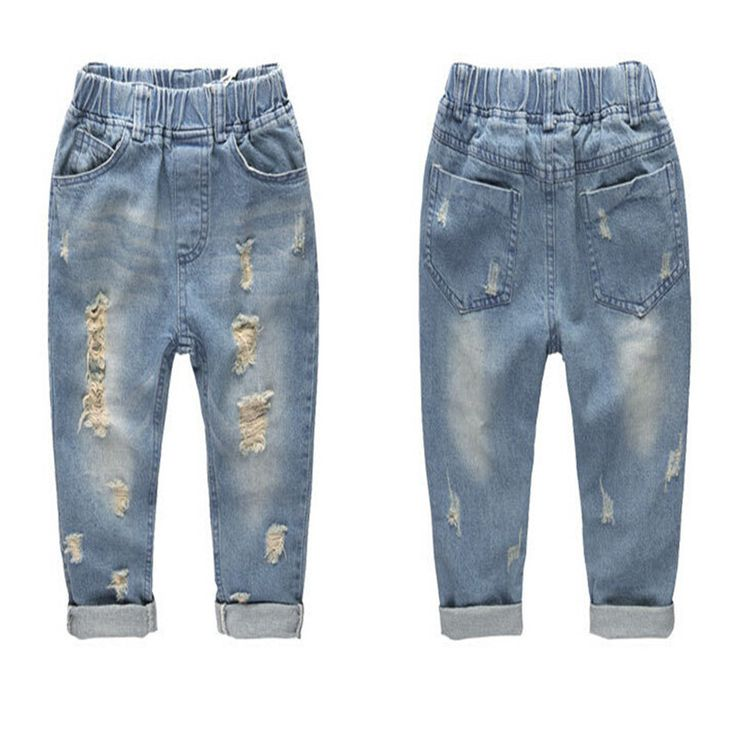 >> Click to Buy << 2-7Y New baby boys pants jeans children fashion boy's kid trousers children clothes trousers casual clothes distrressed hole #Affiliate