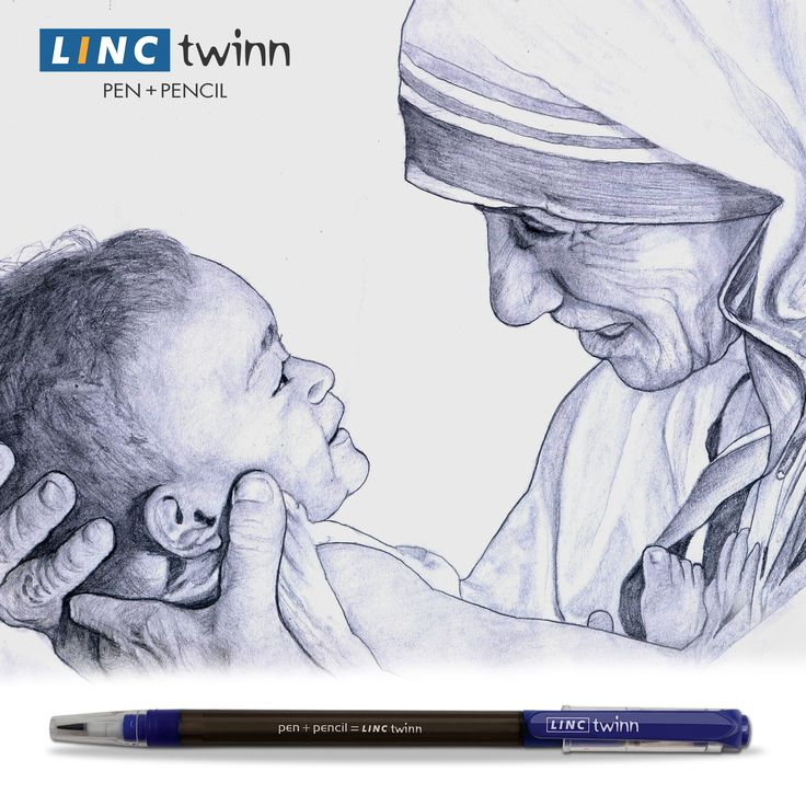 """God has not called me to be successful. He called me to be faithful.""- Mother Teresa. With eyes full of compassion and heart full of emotions, she will forever be a motherly figure for us. Remembering Mother Teresa on her birth anniversary. #Tribute #BirthAnniversary #MotherTeresa #LincPens #LincTwinn"