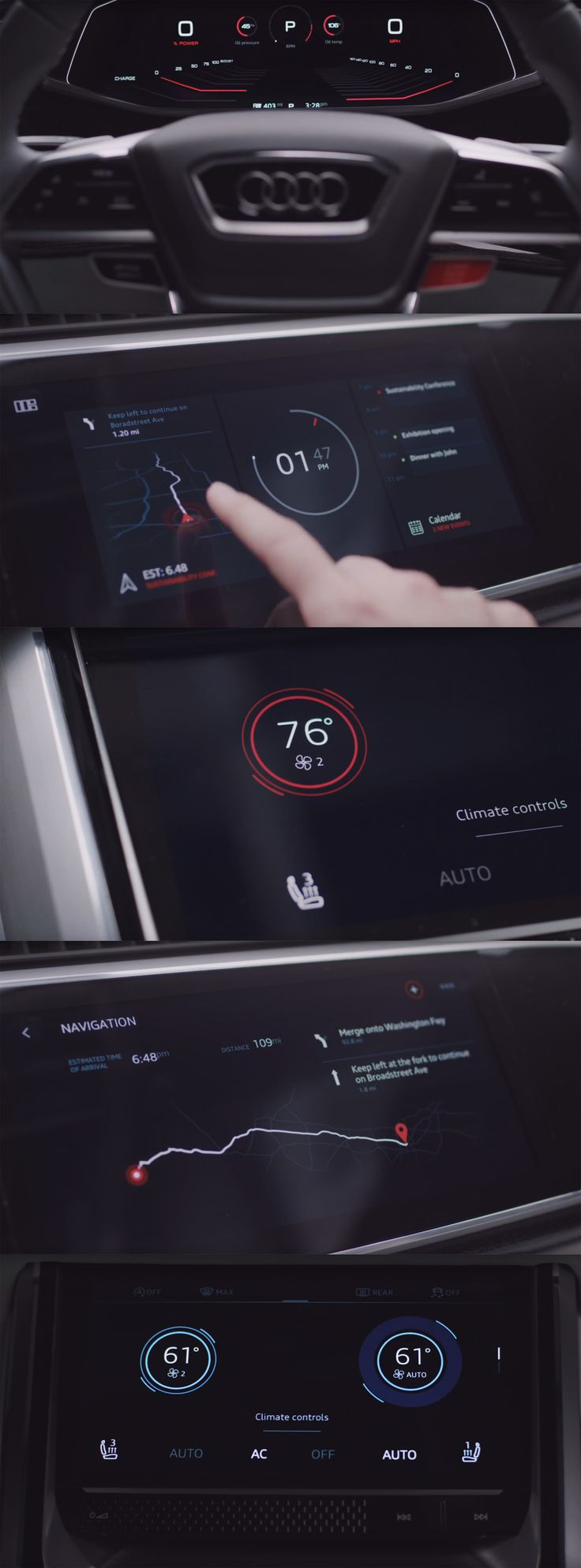 Audi Q8 Concept 2017 UI/UX https://www.youtube.com/watch?v=uTZ0ZABOIbA