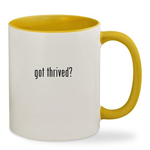 Thrive Diet Patches Dft - got thrived? - 11oz Colored Inside & Handle Sturdy Ceramic Coffee Cup Mug, Yellow * Learn more by visiting the image link. (This is an affiliate link) #ThriveDietPatchesDft