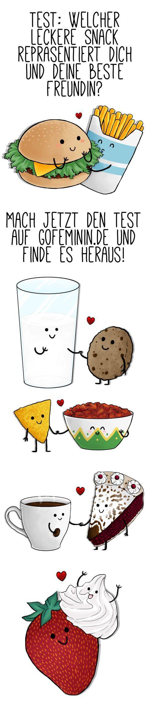 Welcher leckere Snack repräsentiert dich und deine beste Freundin?
