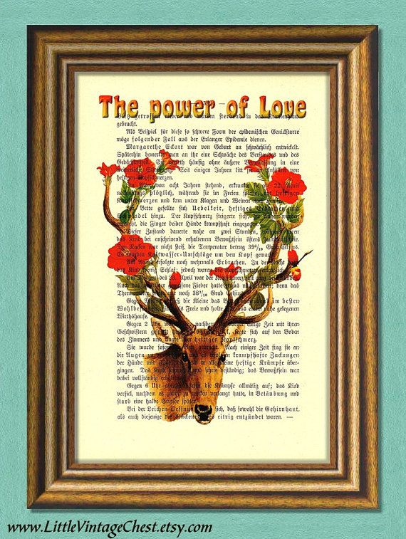 THE POWER of LOVE  Dictionary Art Print  by littlevintagechest, $7.99