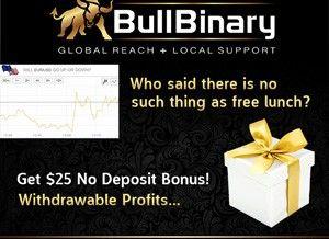 BullBinary Broker – 25$ No Deposit Bonus, Small Minimum Deposit & Deposit Bonus!