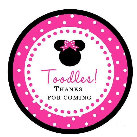 Minnie Mouse Gift Tag Mickey Amp Minnie Party Ideas