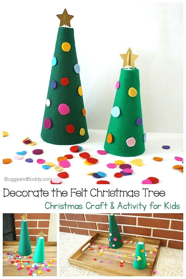 Decorate The Felt Christmas Tree Activity For Kids Buggy And Buddy Felt Christmas Tree Christmas Tree Decorations Diy Felt Christmas