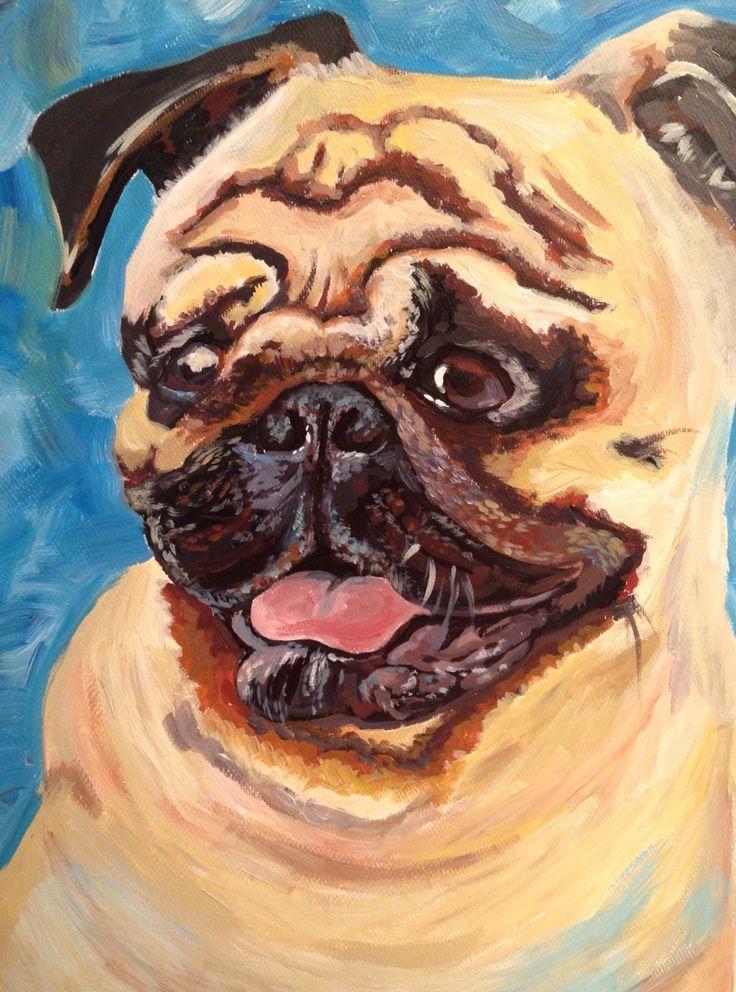 Pug  Acrylic on canvas  2015