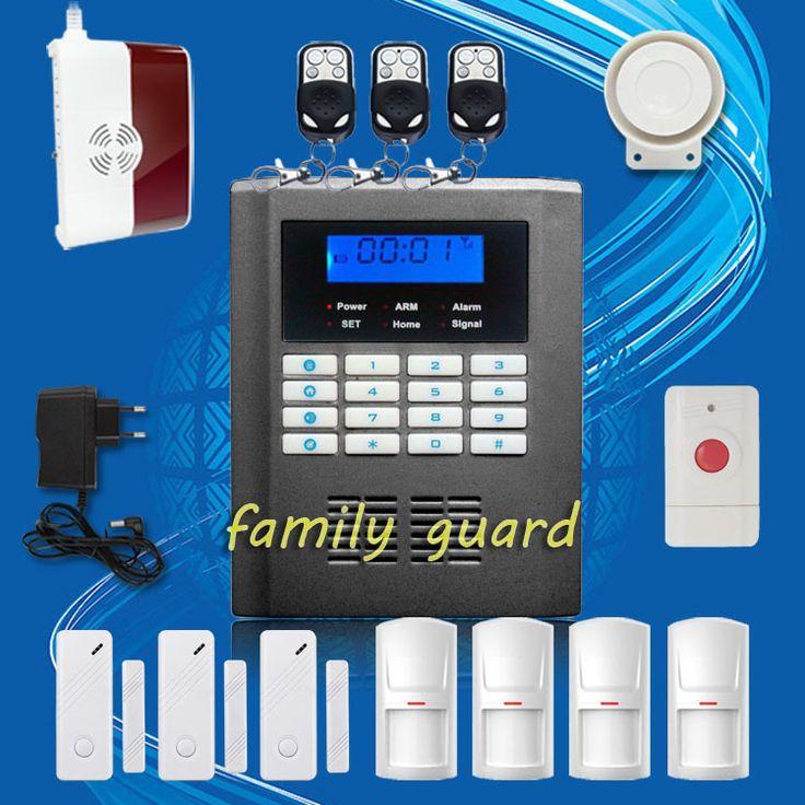 Free Shipping!Wireless Home GSM PSTN Telephone Auto-dial Security Burglar Alarm System Kit+Panic Button+Gas Sensor+new PIR