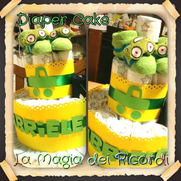 Green Diaper Cake!