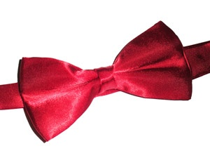 Vintage Style Bow Tie - Red