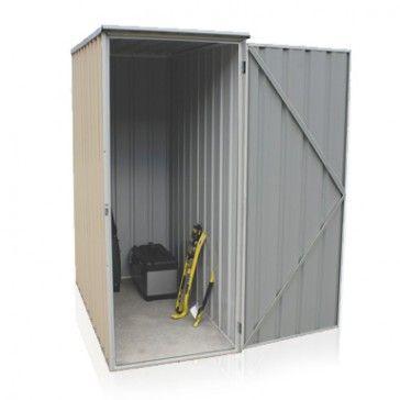 Ezislim Flat Roof 0.78m x 1.52m Single Door Classic Cream Shed