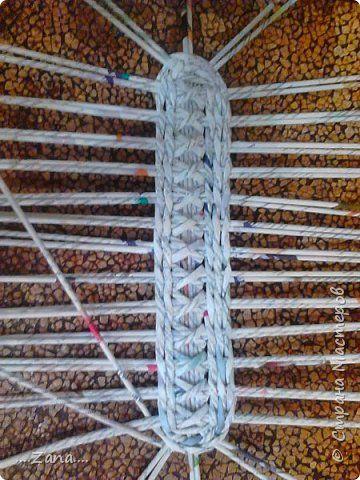 Поделка изделие Плетение корзиночка Трубочки бумажные фото 1
