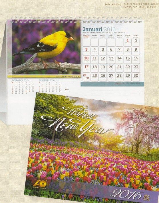 Kalender Meja AO dan Tips Mendesain di Percetakan Ayu Karawang - Kalender Meja Burung Cantik 1