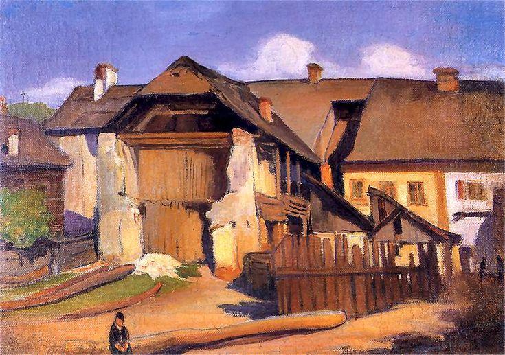 Władysław Ślewiński - Uliczka w Kazimierzu nad Wisłą,  1909