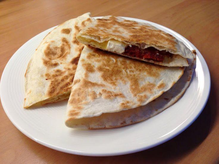 Quesadilla met zoete aardappel en chorizo || Zusjes koken over