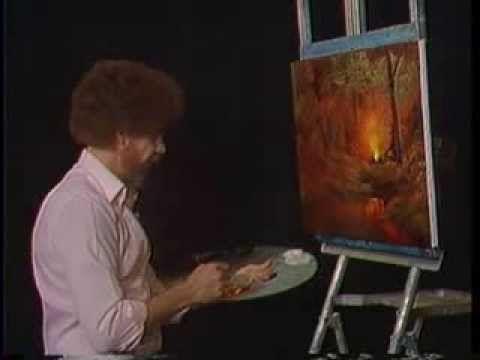 Bob Ross Painting Video - Campfire