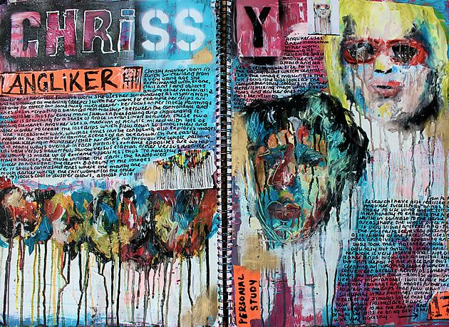 23 creative sketchbook examples to inspire high school Painting / Fine Art students