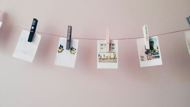 Quick and easy DIY polaroid pictures wall art! Cute room decor
