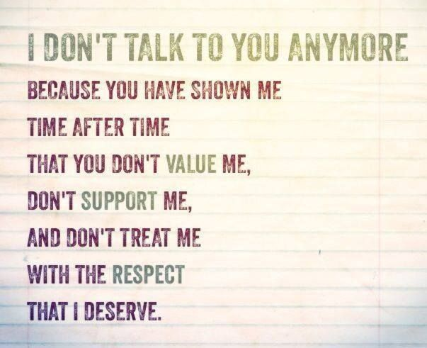 respect and value yourself