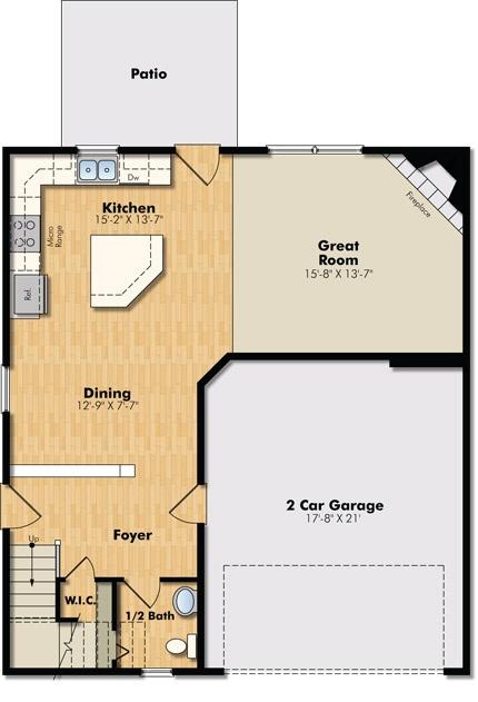 nicols ridge community in eagan jefferson floor plan main level