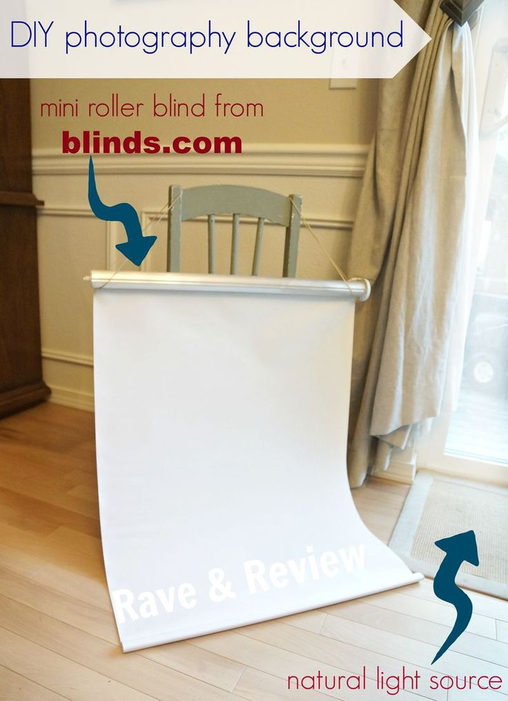 See what top bloggers created when Blinds.com sent them a basic, white roller shade! Leanne From Rave and Review used hers to create a portable photo studio.