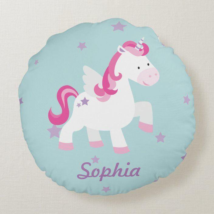 Pillow with Name Sabrina Motif Crazy Unicorn