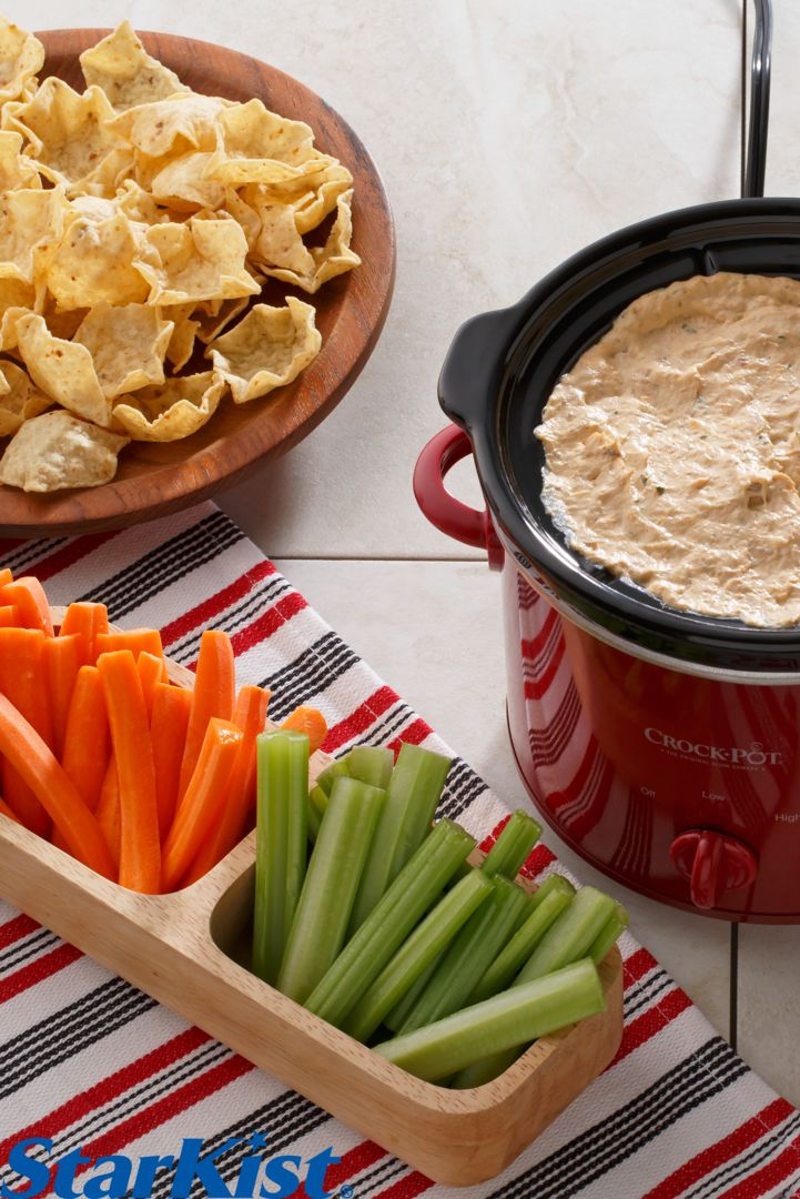 Grab a pouch of our brand new Tuna Creations® Hot Buffalo and try this Buffalo Tuna Dip recipe for the perfect addition to your game day spread!
