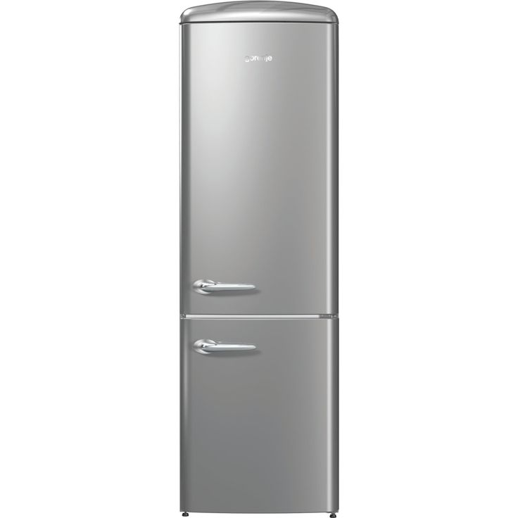 gorenje ORK193X 188.7cm Retro Freestanding Silver Fridge Freezer