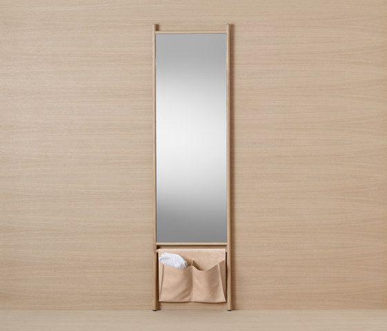 Mya | Tall mirror by burgbad | Towel rails